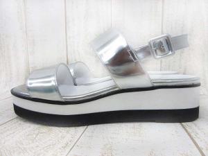 美品 DIANA ダイアナ MR54392 JJコラボ 厚底 フラット サンダル 24.5cm ホワイト シルバーの買取実績