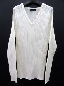 美品 5351 POUR LES HOMMES 5351プールオム HGウォッシャブル ウール Vネック リブ編み ニット セーター 3 ホワイト メンズの買取実績