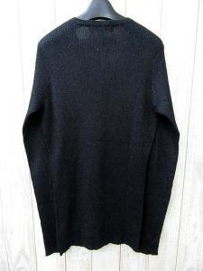 美品 5351 POUR LES HOMMES 5351プールオム Vネック ウール混 ラメ リブ編み ニット セーター 2 ブラック メンズの買取実績
