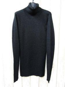 美品 5351 POUR LES HOMMES 5351プールオム ウール混 ラメ リブ編み タートルネック ニット セーター 2 ブラック メンズの買取実績