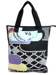 ワイスリー Y-3 和柄 キャンバス トート バッグ ハンドバッグ 鞄 黒系の買取実績