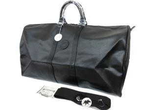 未使用品 ハンティングワールド HUNTING WORLD 2WAY ショルダー ボストンバッグ 旅行鞄 トラベルバッグ 黒