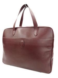 カルティエ Cartier ボルドー マストライン ハンド ビジネスバッグ
