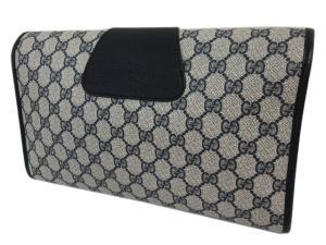 グッチ GUCCI オールドグッチ シェリーライン PVC クラッチバッグ セカンドバッグ 鞄 ブラック×アイボリー 89.01.031の買取実績