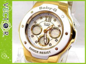 未使用品 【Baby-G/ベビージー】 腕時計 カシオ CASIO G-MS MSG-300G-7B ホワイト×ゴールド ウオッチ カジュアル 防水?
