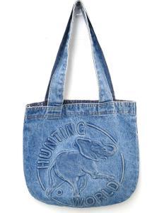 ハンティングワールド HUNTING WORLD デニム トート バッグ ショルダー エレファントマーク ウォッシュブルー デニムキャンバス オシャレ おすすめ 鞄 かばん カバン H29305