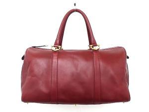 カルティエ Cartier ハンド ボストン バッグ 旅行カバン マストライン 本革 レザー ロゴ ボルドー トラベル 鞄 かばんの買取実績