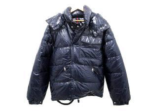 モンクレール MONCLER カラコルム KARAKORUM 美品 ダウン ジャケット 紺 ネイビー サイズ 1 ナイロン 無地 アウター メンズ