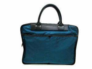 フェリージ Felisi ナイロン レザー ビジネス バッグ ブリーフ ケース 青緑 書類バッグ 鞄 かばん メンズの買取実績