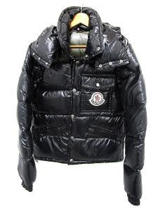 モンクレール MONCLER ダウン ジャケット K2 41303 50 68950 サイズ 1 ジップアップ 黒 ブラック 無地 アウター メンズ