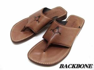 【BACK BONE/バックボーン】 レザーサンダル 靴 茶系 ビブラム