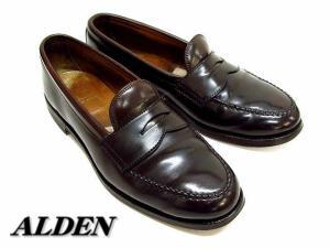 オールデン ALDEN リシュアー ハンドソーン モカシン 986 ローファー コードバン 濃茶 靴 7 1/2