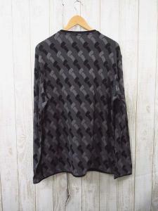 アルマーニ コレツィオーニ ARMANI COLLEZIONI ロングTシャツ 総柄 黒グレー系 → メンズの買取実績