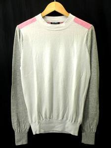 【CASHCA/カシュカ】 コットン カシミヤ混 ニット セーター カットソー 長袖 切替 グレー ピンク Sの買取実績