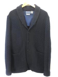 ブルーブルー BLUE BLUE ハリラン ニット ジャケット カーディガン ショール 紺 2