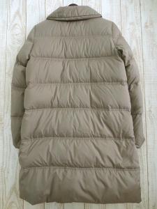 【Tiara/ティアラ】 マリンボタン ロング ダウン ジャケット コート 3/グレージュ %R06の買取実績