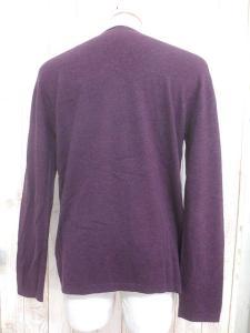 アルマーニ コレツィオーニ ARMANI COLLEZIONI ニット セーター M 紫 パープル ウール 配色 デザイン シンプル 無地 秋冬 メンズの買取実績