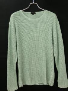 【allegri/アレグリ】 麻 リネン混 長袖 ニット セーター 緑 グリーン 48/F