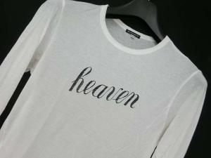 【ANN DEMEULEMEESTER/アンドゥムルメステール】 カットソー ロンTシャツ ロゴ 長袖 ホワイト XXS