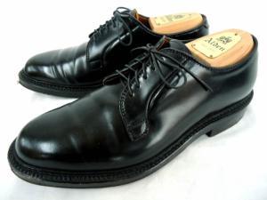 【ALDEN/オールデン】 レザーシューズ/プレーントゥ/コードバン/9901/PLAIN TOE BLUCHER/革靴/黒/ブラック/箱付き/シューツリー、シューキーパー付き/