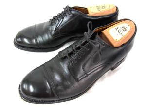 【ALDEN/オールデン】 レザーシューズ/キャップトゥ/ストレートチップ/55210/革靴/短靴/黒/ブラック/シューツリー付き