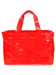 アルマーニ ジーンズ ARMANI JEANS トートバッグ エナメル チャーム 鞄 カバン 赤 レッドの買取実績