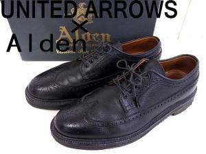 【ALDEN/オールデン】 UNITED ARROWS別注/ユナイテッドアローズ/レザーウイングチップ/革靴/シューズ/ビジネスシューズ/黒/ブラック/サイズ8D