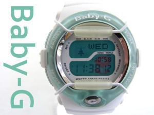 【Baby-G/ベビージー】 デジタル腕時計/Tripper(トリッパー) European Fleur(ヨーロピアンフラワー) 限定モデル/ホワイト×ライトグリーン/10気圧防水/ケース付き