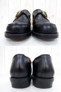 【CALEE/キャリー】 シングルモンクストラップブーツ/レザーシューズ/サイズ9/ブラック×ゴールド/黒×金/2014年モデル/革靴/ビブラムソール/箱付きの買取実績