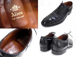 【ALDEN/オールデン】 ストレートチップレザーシューズ/コードバン/サドルシューズ/ドレスシューズ/ビジネスシューズ/黒/ブラック/サイズ11ハーフ/革靴/メンズ靴/紳士靴/保存袋・箱付きの買取実績