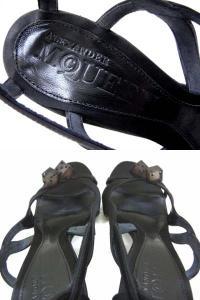 【ALEXANDER MCQUEEN/アレキサンダーマックイーン】 ダイスモチーフ付きデザインサンダル/ミュール/サイコロ/黒/ブラック/サイズ36/レディース靴/婦人靴/箱付きの買取実績