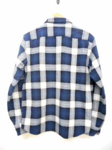 キャリー CALEE 長袖 アムンゼンチェックシャツ ネイビー 紺 M 綿 コットン AMUNZEN メンズトップスの買取実績