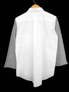 コムデギャルソンブラック COMME des GARCONS BLACK 袖切替長袖シャツ コットン ホワイト グレー 白 灰 L メンズトップスの買取実績