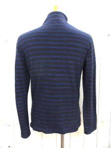 ブルーブルー BLUE BLUE ボーダー ハイネック Tシャツ サイズ 2 ブラック ネイビー 長袖 カットソー トップス ショルダーボタン コットン 日本製 聖林公司の買取実績
