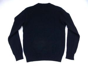 キャリー CALEE 15AW ワッペン コットン ニット サイズ M 黒 ブラック セーター 長袖 トップス リブ 丸首 肉厚 日本製の買取実績