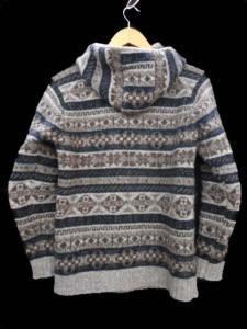 ジャミーソンズ jamieson's フェアアイル柄プルオーバーニットパーカー セーター フード付き ウール グレー 灰 メンズトップスの買取実績