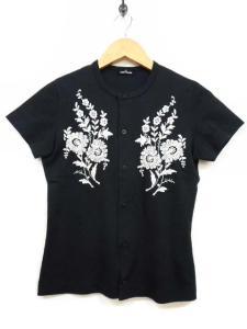トリココムデギャルソン tricot COMME des GARCONS 半袖カーディガン 刺繍 ブラック 黒 トップス 夏