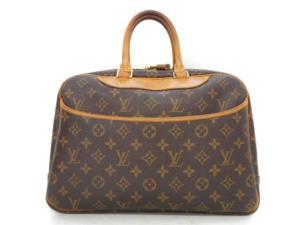 ルイヴィトン LOUIS VUITTON ドーヴィル モノグラム ハンドバッグ ボストン 茶 ブラウン系 レザー 革 かばん 鞄 M47270 ユニセックス