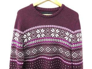 エーケーエム AKM 15AW cashwool new snow crew knit ニット セーター ノルディック スノー柄 ボルドー M ZEGNA BARUFFA A7270の買取実績