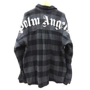 パームエンジェルス PALM ANGELS 20SS LOGO OVER SHIRT ロゴオーバー チェック ネルシャツ 黒の買取実績
