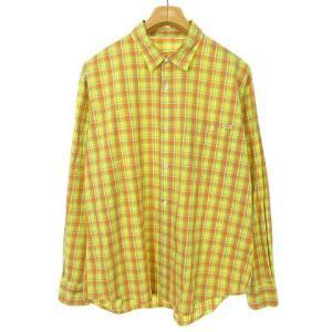 パパス Papas チェックシャツ オレンジ イエローの買取実績