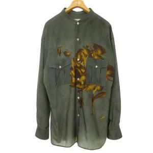 ベッドフォード BED J.W. FORD 19AW バンドカラー シャツ ローズプリント グレーの買取実績