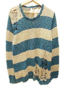 グラム glamb Slimane border knit スリマン ボーダー ニット2