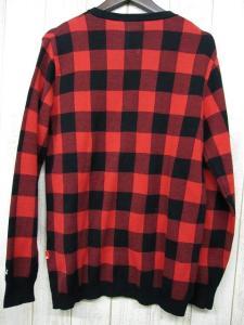 ベドウィン BEDWIN ブロックチェックカーディガン 長袖 コットン サイズ2 赤色系 レッド×ブラック 日本製の買取実績