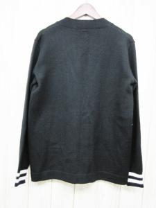 ベドウィン BEDWIN ウール混カーディガン 長袖 黒×白 ブラック サイズ3 トップス Bワッペン 毛 袖口ラインの買取実績