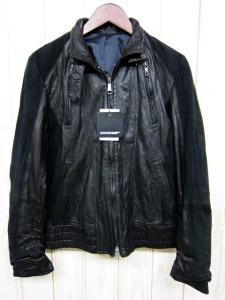 5351プールオム 5351 POUR LES HOMMES ラムレザーライダース ジャケット 羊革 Wジップ ブルゾン 1 黒ブラック スエード切替の買取実績