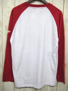 エクストララージ X-LARGE ラグランプリントTシャツ ホワイト レッド 赤白 L トップス 長袖 コットン ロゴ 丸首 メンズの買取実績