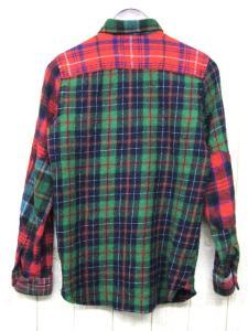 アイ ジュンヤワタナベマン コムデギャルソン ジュンヤマン eye JUNYA WATANABE MAN ウールチェックシャツ ネルシャツ パッチワーク風 WL-B904 トップス 長袖 ポケット 秋冬 赤緑系 レッド グリーン ミックスカラー XS メンズの買取実績