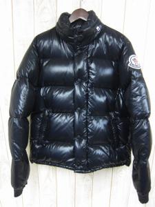 モンクレール MONCLER EVEREST エベレスト ダウンジャケット 2 黒 ブラック アウター ブルゾン ナイロン フェザー エヴェレスト カジュアル ブランドロゴワッペン メンズ