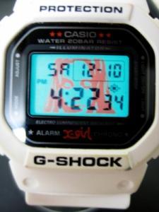 カシオジーショック CASIO G-SHOCK X-GIRL デジタル腕時計 DW-5600FS 白 限定 コラボ ホワイト レディースの買取実績